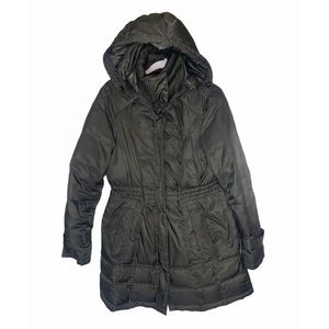 Kenneth Cole down puffer long hooded winter jacket